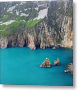 turquoise sea at Slieve League cliffs Ireland Metal Print