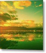 Turquoise Sunrise Metal Print