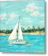 Turquoise Waters Metal Print