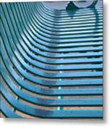 Turquoise Wave Metal Print