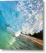 Turquoise Wave Tube Metal Print