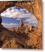 Turret Arch And North Window Metal Print