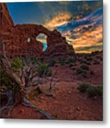 Turret Arch At Sunset Metal Print