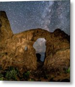 Turret Arch Milkyway, Arches National Park, Utah Metal Print