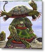 Turtle Circus Metal Print
