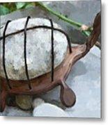 Turtle Full Of Rocks Metal Print