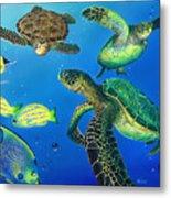 Turtle Towne Metal Print