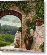 Tuscan Arch Metal Print