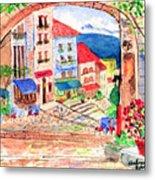 Tuscan Archway II Metal Print
