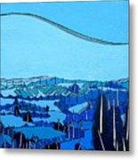 Tuscan Blue View Metal Print