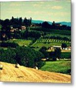Tuscan Country Metal Print