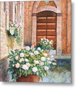 Tuscan Courtyard Metal Print