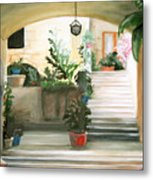 Tuscan Courtyard Detail Metal Print