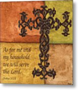 Tuscan Cross Metal Print