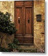 Tuscan Entrance Metal Print by Andrew Soundarajan