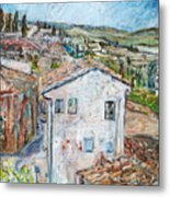 Tuscan House Metal Print