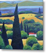 Tuscan Pines And South Bay Metal Print