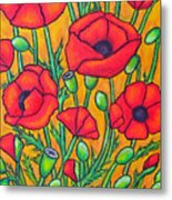Tuscan Poppies - Crop 2 Metal Print
