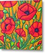 Tuscan Poppies - Crop 2 Metal Print