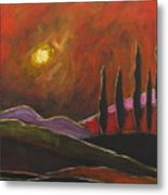 Tuscan Sunset Rage Metal Print by Italian Art
