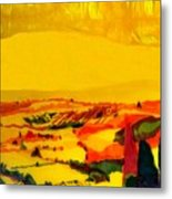 Tuscan View In Resin Metal Print by Jason Charles Allen