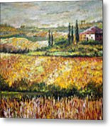 Tuscan Wheat Metal Print