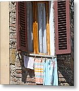 Tuscan Window And Laundry Metal Print