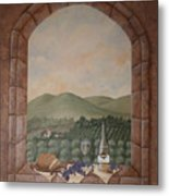 Tuscan Window Ledge Metal Print