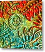 Tuscany Batik Metal Print