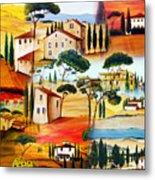 Tuscany Collage Metal Print