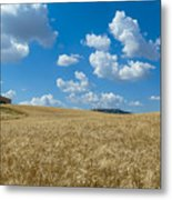 Tuscany Landscape With The Town Of Pienza, Val D'orcia, Italy Metal Print