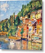 Tuscany On The Lake Metal Print