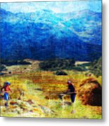 Tusheti Hay Makers I Metal Print