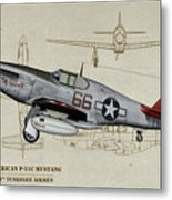 Tuskegee P-51b By Request - Profile Art Metal Print