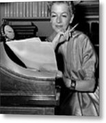 Tv And Big Screen Actress, Betty Furness. 1956 Metal Print