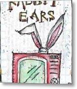 Tv And Rabbit Ears Metal Print