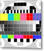 Tv Multicolor Signal Test Pattern Metal Print