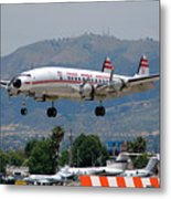 Twa Lockheed Super Constellation N6937c Metal Print