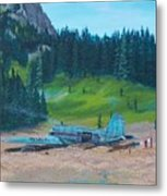 Twa Mountaintop Cabin Metal Print
