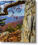 Twenty Minute Cliff Blue Ridge Parkway I Metal Print