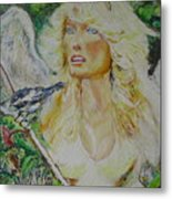 Twice An Angel Metal Print