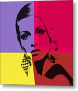 Twiggy Pop Art 1 Metal Print