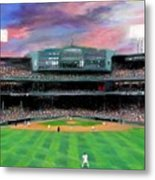 Twilight At Fenway Park Metal Print