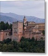 Twilight At The Alhambra Metal Print