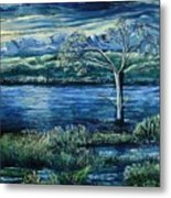 Twilight At The River Metal Print