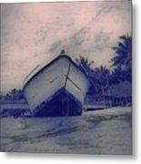 Twilight Boat  Metal Print