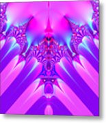 Twilight Descending Fractal Metal Print