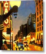 Twilight In Chicago - The Watcher Metal Print