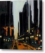 Twilight In Chicago Metal Print