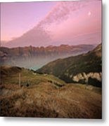 Twilight In The Alps Metal Print